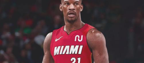 Jimmy Butler says he's coming to Miami. [Source: VNDSGN Jersey Swap / Photoshop Edit]