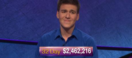 After 32 episodes and over $2 million in winnings, James Holzhofer is eliminated in 'Jeopardy!' [Image Source: Jeopardy!/YouTube/Screenshot]