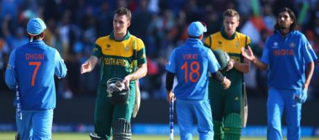 India v South Africa, ICC World Cup (Image via BCCI.TV screencap)