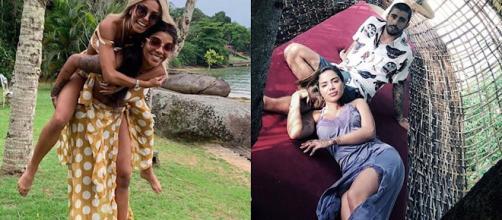 Casais posaram em fotos nas redes sociais. (Reprodução/Instagram/@ludmilla/@pedroscooby)