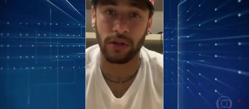 Conversa foi exibida em matéria sobre o caso Neymar no 'Jornal Nacional'. (Reprodução/Rede Globo)