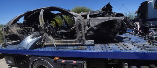 Muere Reyes | El coche de Reyes quedó completamente calcinado tras ... - rtve.es