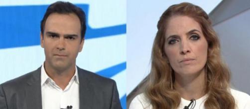 Tadeu Schmidt e Poliana Abritta podem perder salários altos na Globo (Arquivo Blasting News)
