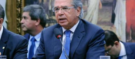 Ministro Paulo Guedes se exaltou com questionamentos. (Arquivo Blasting News)