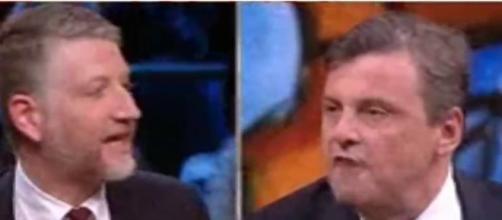 Calenda contro Giuli: 'Fascista, hai fatto una cafonata', Floris calma tutti (VIDEO)
