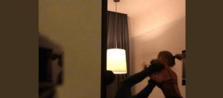Capture d'écran de la dispute entre Neymar Jr et son accusatrice