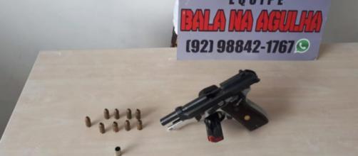 Arma foi apreendida pela polícia. (Divulgação/Polícia Militar)