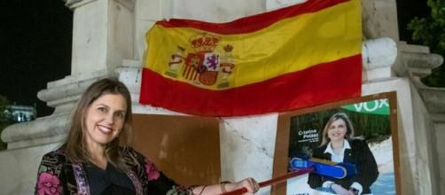 Cristina Peláez, la noche del comienzo de la campaña del 26M. / RAÚL CARO