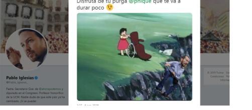 El meme de Echenique por un barranco