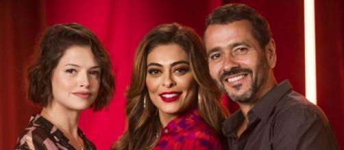 Juliana Paes e Marcos Palmeira são pais da personagem de Agatha Moreira em 'A Dona do Pedaço'. (Reprodução/TV Globo)