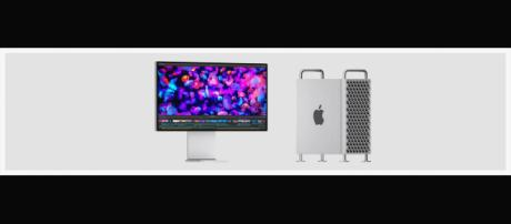 Apple's latest Mac Pro is both prohibitively pricey and distinctively eye-catching. [Image source:Apple/YouTube/Screenshot]