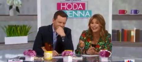"""Willie Geist and Jenna Bush Hager recall being dumped, on """"Today,"""" and try to translate modern dating terms. [Image source:TODAY-YouTube]"""