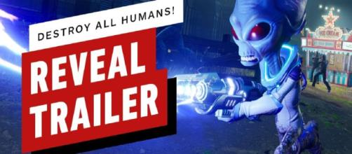 Destroy all Humans lets players destroy the 1950s yet again. [Image via IGN/YouTube]