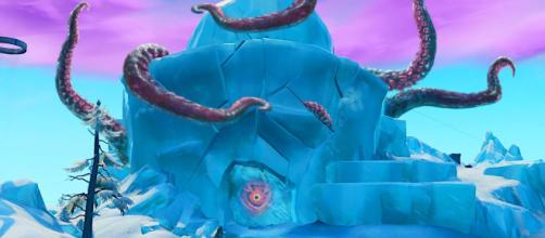 Fortnite's ice monster has escaped. [image source: FriendlyMachine/YouTube]