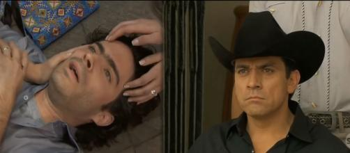 Miguel e Rogério em 'A Que Não Podia Amar'. (Reprodução/Televisa) https://www.youtube.com/watch?v=DjdMA5GAF7c