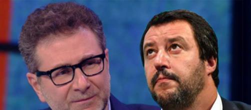 Nuovo scontro tra Fabio Fazio e Matteo Salvini