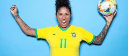 Cristiane marcou os três gols do time brasileiro. (Divulgação/ FIFA)