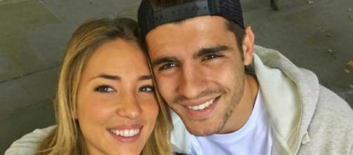 Luis Morata con la moglie, Alice Campello
