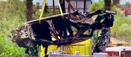 Así quedó el coche de José Antonio Reyes tras el accidente. / Antena 3