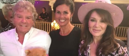 Brittany Cartwright's mom poses with Ken Todd and Lisa Vanderpump. [Photo via Sherri Cartwright/Instagram]