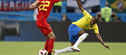 Diante da Bélgica, pela Copa do Mundo de 2018, jogador foi destaque negativo da Seleção. (Arquivo Blasting News)