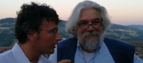 Diego Fusaro e Alessandro Meluzzi parlano di ciò che è accaduto Lampedusa (Ph. Youtube)