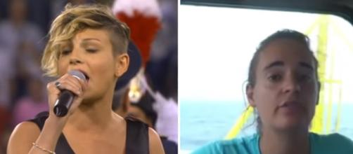 Emma Marrona difende Carola Rackete, ma viene travolta degli insulti. (Ph. Youtube)