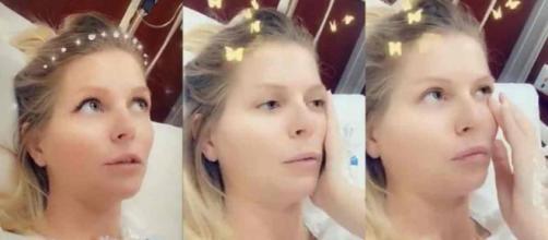 Jessica Thivenin enceinte de cinq mois et de nouveau hospitalisée d'urgence.