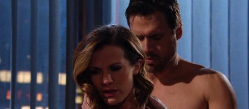 On 'The Young and the Restless,' Chelsea loses her husband. [image source: Y&R Twitter verified account]
