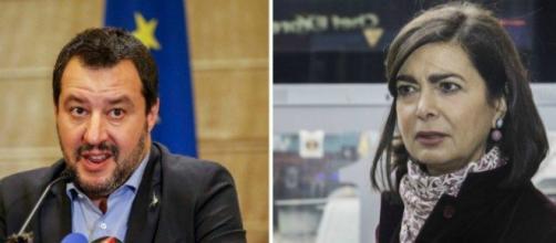 Nuovo scontro tra Matteo Salvini e Laura Boldrini