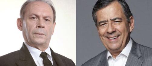 José Wilker e Paulo Henrique Amorim infartaram e acabaram falecendo. (Reprodução/Rede Globo/RecordTV)