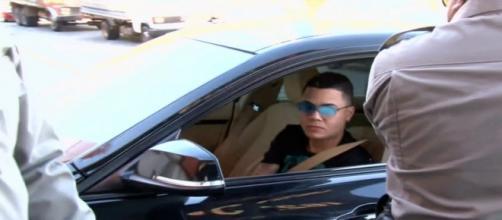 O cantor também se recusou a se submeter ao bafômetro. (Reprodução/TV Anhanguera)