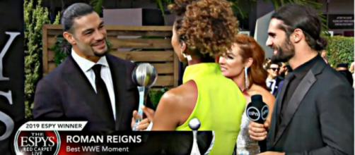 Roman Reigns received the ESPYs Award for Best WWE Moment. Image Courtesy: YouTube/TheRomanReignsEmpire