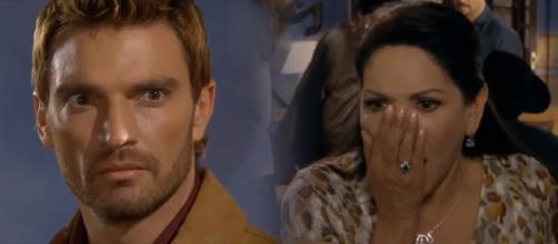 Rosaura descobre que Bruno está envenenando o gado. (Reprodução/Televisa)