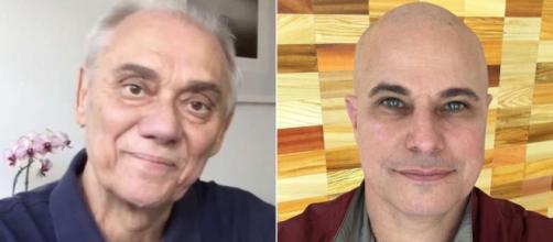 Marcelo Rezende e Edson Celulari foram diagnosticados com câncer. (Reprodução/Instagram/@marcelorezende.oficial@edsoncelularireal)