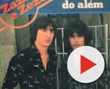 Capa do primeiro disco da dupla Zazá e Zezé. (Reprodução/TV Anhanguera)