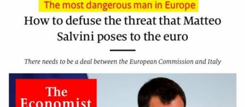 Matteo Salvini uomo più pericoloso d'Europa secondo l'Economist