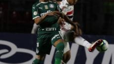 Com gol esquisito, Palmeiras arranca empate no final contra o São Paulo