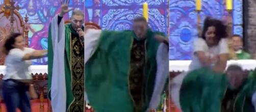 Religioso disse estar bem após atentado. (Reprodução/Youtube/Padre Rodrigo Maia)