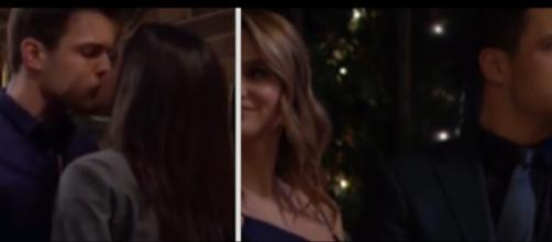 Y&R keeps love triangle going with Lola, Kyl, Summer. (Image Source:CBS Soaps-YouTube.)