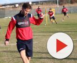 L'attaccante Stefano Pettinari, calciatore del Lecce, possibile il trasferimento al Crotone