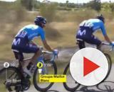 Mikel Landa in ritardo nella decima tappa del Tour de France