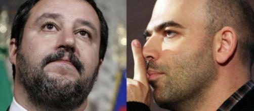 Matteo Salvini e Roberto Saviano, nuovo attacco dello scrittore campano