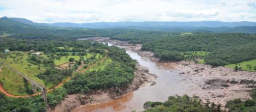 Região do Córrego do Feijão foi destruída por rejeitos de barragem rompida. (Arquivo Blasting News)