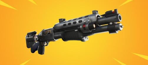 "The Legendary Tactical Shotgun is coming to ""Fortnite."" (Image via In-game screenshot)"