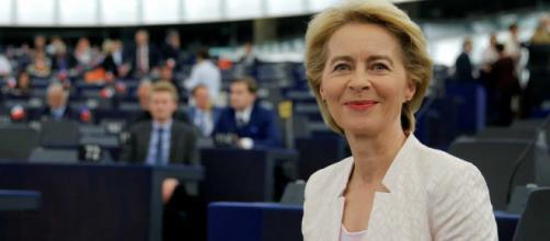 Ursula von der Leyen al momento dell'elezione