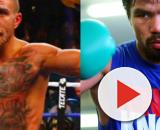 Vasyl Lomachenko and Manny Pacquiao could cross path down the road – image credit: Amatoboxig/ Youtube, Boxing Insider/Flicker