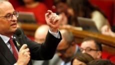 Quim Torra apuesta por votar 'no' a Pedro Sánchez si no da poder a Cataluña