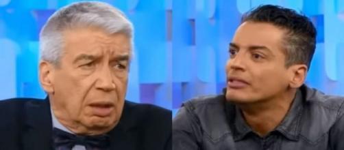 Décio Piccinini perde a paciência com Leo Dias. (Reprodução/SBT)
