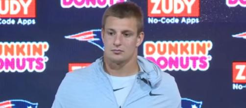 Rob Gronkowski played nine years with the Patriots. [Image Source: NESN/YouTube]